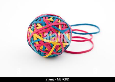 Bunte Gummiband-ball - Stockfoto