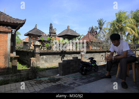 Batuan Tempel aka Pura Puseh Eine der ältesten Balinesischen Hindu Tempel auf Bali. Dorf Batubulan. Gianyar Regency. - Stockfoto