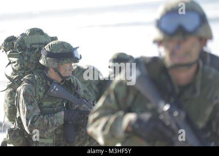 MARINE CORPS BASE CAMP Pendleton, Calif.-japanische Soldaten, mit dem Westliche Armee Infanterie Regiment, Japan - Stockfoto