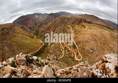 Südafrika, Western Cape, Prinz Albert, Swartberg Pass. - Stockfoto