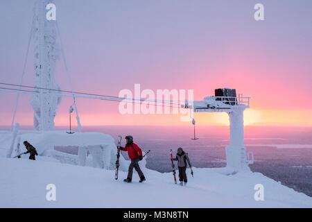 Das Skigebiet Ruka in Finnland - Stockfoto