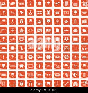 100 Fussball Ikonen Set Schwarz Vektor Abbildung Bild