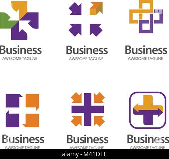 Kreuz Plus medizinische Anteil Logo Icon Design Template Elemente - Stockfoto