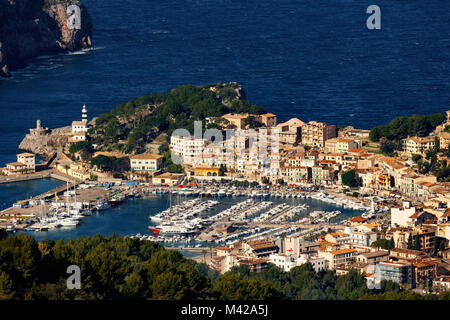 Anzeigen Port de Soller auf Mallorca - Stockfoto