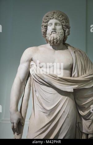 Asclepius des Giustini Typ. Römische Nacharbeit aus dem späten 2 Jahrhundert nach einem griechischen Original aus - Stockfoto