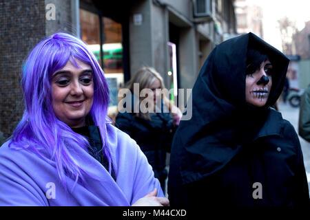Karneval, Barcelona, Spanien. - Stockfoto