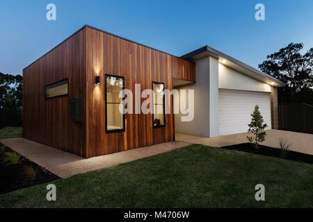 Zeitgenössische Australische home Exterieur - Stockfoto