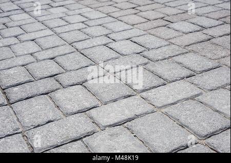 Ziegel Bürgersteig Perspektive - Stockfoto