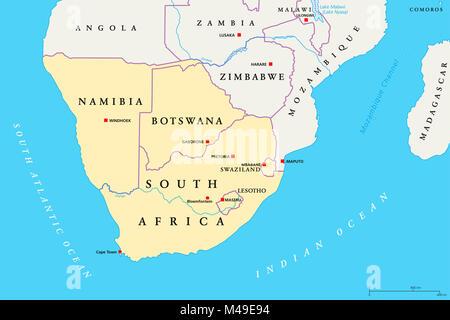 Binnenstaat Im Südlichen Afrika