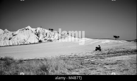 Der perfekte Spielplatz für ein wenig Spaß im Sand auf zwei Rädern - Stockfoto