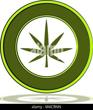 Ein Bild von einem Symbol für medizinisches Marihuana. - Stockfoto