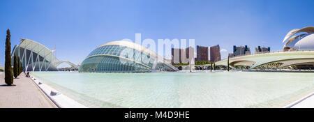 Stadt der Künste und Wissenschaften in Valencia, Spanien - Stockfoto