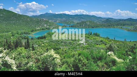 Gränna Seen in der Nähe von Dubrovnik, Dalmatien, Kroatien - Stockfoto