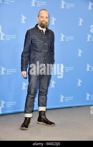 Berlin, Deutschland. 16 Feb, 2018. Wolfgang Fischer während der 'Styx' Fotoshooting an der 68. Internationalen Filmfestspiele - Stockfoto