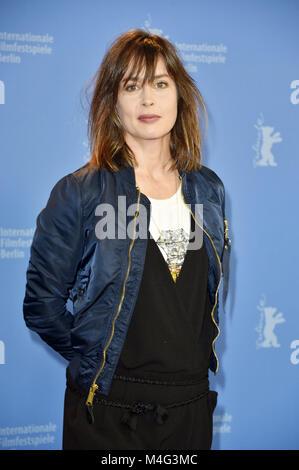 Berlin, Deutschland. 16 Feb, 2018. Susanne Wolff während der 'Styx' Fotoshooting an der 68. Internationalen Filmfestspiele - Stockfoto