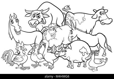 Niedlich Cartoon Bilder Von Tieren Zum Einfärben Fotos - Ideen ...