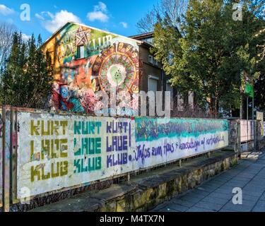 Berlin_Pankow. Kurt Lade Klub außen. Kult Youth Club bietet Kultur & Musik Events & Einrichtungen für Hobbys. Der - Stockfoto