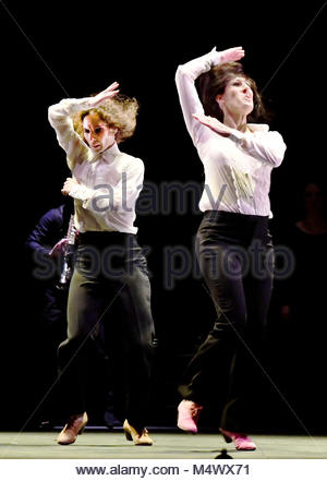 London, Großbritannien. 18 Feb, 2018. Flamenco Festival London, Sadlers Wells London UK Leonor Leal Ursala und Tamara - Stockfoto