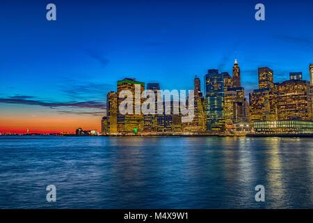 Die Skyline von Midtown Manhattan. - Stockfoto