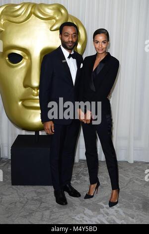Chiwetel Ejiofor Teilnahme an der After Show Party für die EE British Academy Film Awards im Grosvenor House Hotel in London. Stockfoto