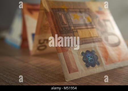 Währung Euro Münzen und Banknoten, Business Konzept - Stockfoto