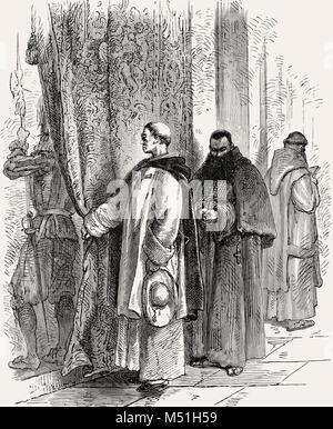 Der Eingang in die Sixtinische Kapelle, Vatikan, Rom, Italien, 19. Jahrhundert - Stockfoto