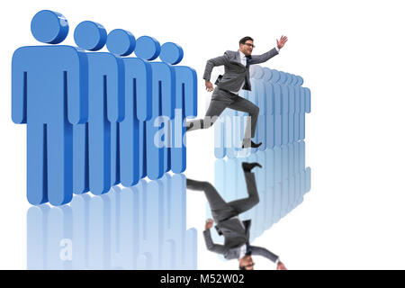 Von Gast-Konzept mit Geschäftsmann - Stockfoto
