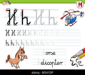 Wie man Buchstaben q Arbeitsblatt für Kinder schreiben Stockfoto ...