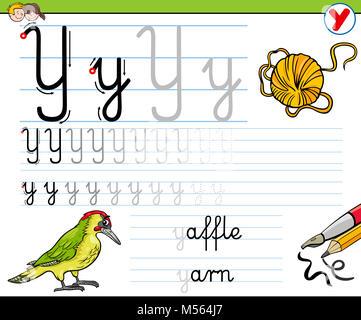 Wie man Buchstaben T Arbeitsblatt für Kinder schreiben Stockfoto ...