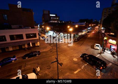 Angesagten Meatpacking District in New York, Ecke Washington Street und wenig 12 Straße - Stockfoto