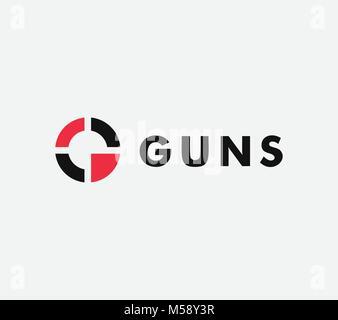Ziel vector linear stilisierte Symbol, Ziel, abstrakte Zeichen, Symbol, gun Business Logo Vorlage, Vector Illustration - Stockfoto