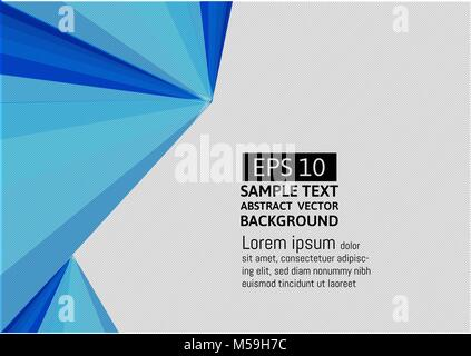 Geometrisch-Abstrakte blaue Farbe moderne futuristischen. Hintergrund Vector Illustration - Stockfoto