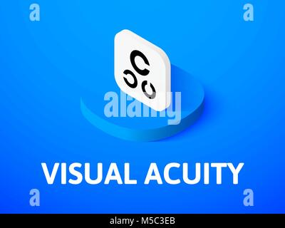 Sehschärfe isometrische Symbol Farbe Hintergrund isoliert - Stockfoto