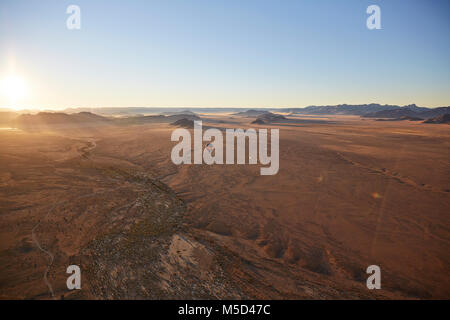 Luftaufnahme, Blick vom Ballon, Tsaris Berge, Kulala Wilderness Reserve, die Namib Wüste, Otjozondjupa Region, Namibia - Stockfoto