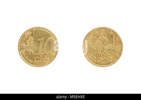 10 Cent Euro Münze Frankreich 1999 Stockfoto Bild 41444404 Alamy