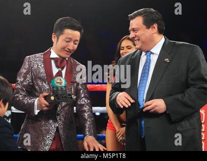 Der Präsident des World Boxing Council mauricio Sulaiman bei der ...