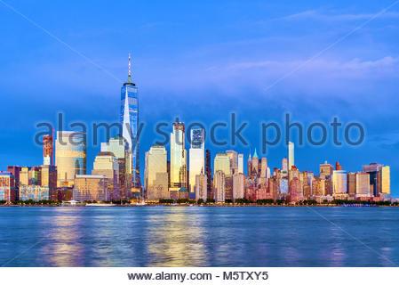 Skyline von New York One World Trade Center WTC Freedom Tower - Stockfoto