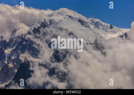 Mont Blanc ist der höchste Berg des historischen Europa (4810 m Höhe) - Stockfoto