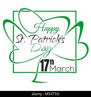 Happy St. Patricks Tag. Typografische Gestaltung. Vector vintage Karte mit Schriftzug. Happy St. Patricks Day Schriftzug - Stockfoto