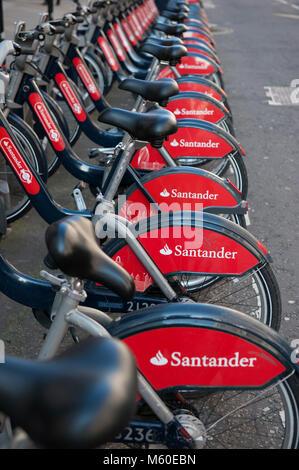 Santander Zyklen, ein Transport for London Regelung - Stockfoto