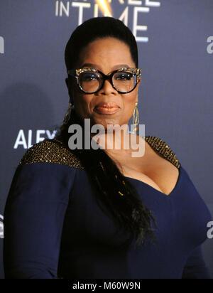Los Angeles, USA. 26 Feb, 2018. LOS ANGELES, Ca - 26. Februar: Schauspielerin Oprah Winfrey besucht die Weltpremiere - Stockfoto