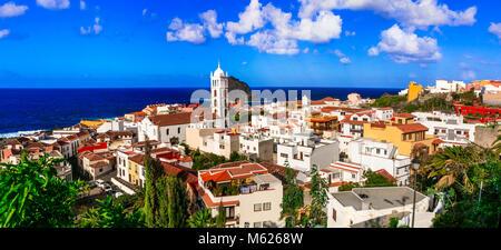 Beeindruckend Dorf Garachico, Teneriffa, Spanien. - Stockfoto