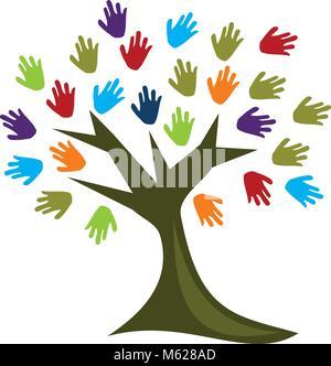 Hand der Baum - Stockfoto