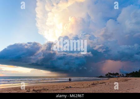Induruwa Beach, Sri Lanka, Asien - herrliche Atompilz bei Sonnenuntergang am Strand von Induruwa - Stockfoto