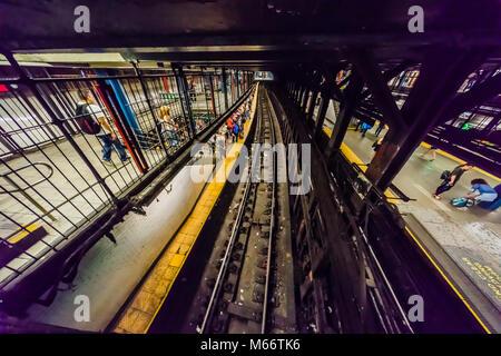 14. Straße - Union Square U-Bahn Station Manhattan_New York, New York, USA - Stockfoto