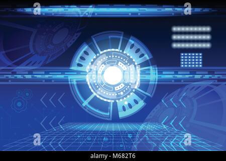 Elektronischer Schaltplan in blau. Unsere eigene Entwicklung, keine ...