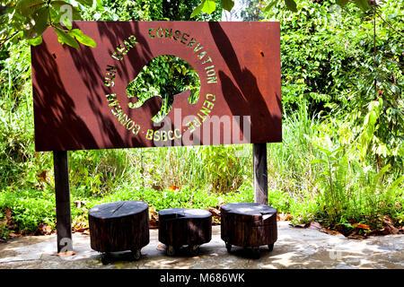 Bornesischen Sun Bear Conservation Centre (BSBCC) - Stockfoto