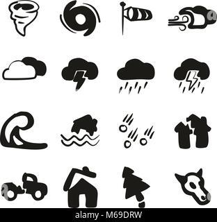 Tornado Symbole Freehand füllen - Stockfoto