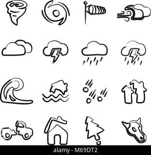Tornado Symbole Freehand - Stockfoto