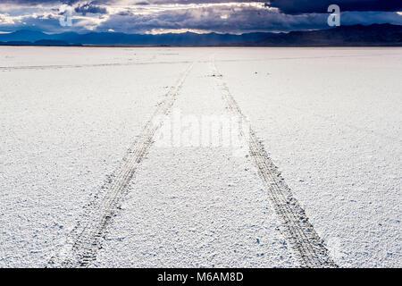 Usa Utah Tooele Great Salt Lake Desert Bonneville Salt Flats